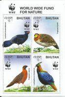 Bhutan, World Wide Fund For Nature,Animal ,Birds,2003, MNH, Tragopan, Lophura,WWF, Issue - W.W.F.