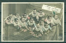 """BEBES - BEBES SORTANTS D'UNE CAISSE EN BOIS """" MON CADEAU DE NOCES """" (Timbre Déchiré)    A S 961 - Babies"""