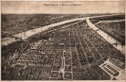CPA - MANNHEIM A.Rhein - Vue Plan De La Ville ( Illustration) - Mannheim