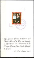 Bolivia 1985 ** CEFIBOL 1231T Tarjeta Bicentenario De La Heroína Paceña Vicenta Juaristi - Eguino. Independencia. - Bolivia