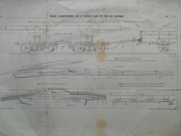 ANNALES DES PONTS Et CHAUSSEES -  Plan De Trucks Transporteurs A Voie De 0m80 Des Ardennes - Imp L.Courtier 1899 (CLE54) - Máquinas