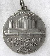 """Medaille Fachiste De 1941 """" Occupazione Della Grecia En Argent 800/1000 - 1939-45"""