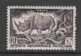 TIMBRE NEUF D'AFRIQUE EQUATORIALE FRANCAISE - RHINOCEROS N° Y&T 209 - A.E.F. (1936-1958)