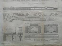 ANNALES DES PONTS Et CHAUSSEES (Dep 75) -  Plan De Chemin De Fer De Ceinture De Paris - Graveur Macquet 1892 (CLE55) - Machines