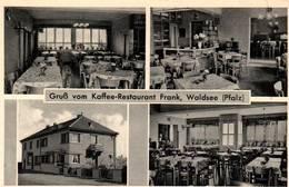 """CPA - WALDSEE - Gruss Von Kaffee-Restaurant """"Frank"""" - Germany"""