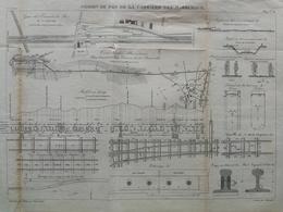 ANNALES DES PONTS Et CHAUSSEES (Dep 75) -  Plan De Chemin De Fer Des Maréchaux - Graveur Macquet 1892 (CLE56) - Machines