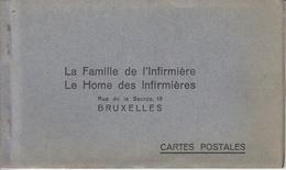 St Gilles - La Famille De L'Infirmière - Home Des Infirmières - Carnet 7 Cartes (Rue De La Source) - St-Gillis - St-Gilles