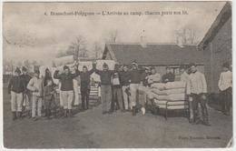 ARMÉE BELGE -Camp De Brasschaet - Polygone, Arrivée Au Camp, Chacun Porte Son Lit - Manoeuvres