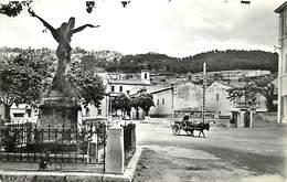 -dpts Div. -ref-AH569 - Bouches Du Rhône - Auriol - Place Du Marché - Monument Aux Morts - Attelage âne - ânes - - Auriol