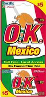 USA - O.K. Mexico, Remote Mem. Uncut Cardboard, 5$, Mint - Otros