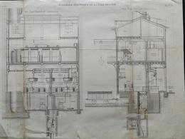ANNALES DES PONTS Et CHAUSSEES (Dep 69) - Plan D'Eclairage électrique De La Gare De L'Est - Graveur Macquet 1891 (CLE57) - Machines