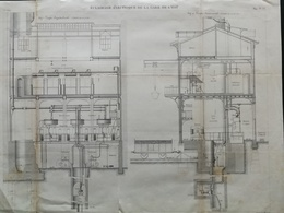 ANNALES DES PONTS Et CHAUSSEES (Dep 69) - Plan D'Eclairage électrique De La Gare De L'Est - Graveur Macquet 1891 (CLE57) - Máquinas