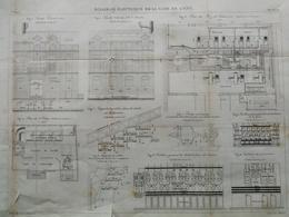 ANNALES DES PONTS Et CHAUSSEES (Dep 69) - Plan D'Eclairage électrique De La Gare De L'Est - Graveur Macquet 1891 (CLE58) - Máquinas
