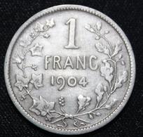 BELGIE LEOPOLD II  1 FRANC  1904    MOOIE  KWALITEIT   2 SCANS - 1865-1909: Leopold II