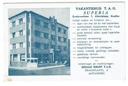 Vacantiehuis T.A.. Superia - Zwaluwenlaan Albert-Plage Knokke - 2 Scans - Knokke