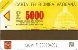 Vatican - Musei Vaticani - Sacra Famiglia - 5.000V₤, 1994, Printing Proof Or Fake - Vatican