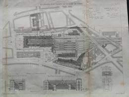 ANNALES DES PONTS Et CHAUSSEES (Dep 69) - Plan D'Eclairage électrique De La Gare De L'Est - Graveur Macquet 1891 (CLE59) - Máquinas