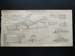 ANNALES DES PONTS Et CHAUSSEES (Dep 74) - Plan Du Chemin De Fer électrique Du Fayet à Chamonix - 1901 (CLE60) - Máquinas
