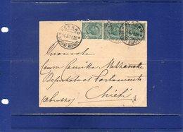 ##(DAN195)-1911- Busta Intestata Al Retro Il Prefetto Di Pesaro  Da Pesaro Per Chieti - 1900-44 Vittorio Emanuele III