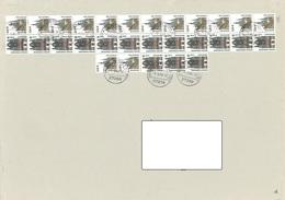 Bund Grossbrief (A4) Mit 14x Mi 2381 Und 15x 2139 RM Selten! - [7] República Federal