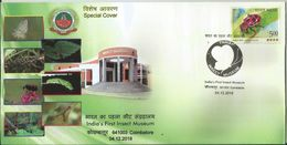 India Special Cover First Insect Museum, Ladybird Beetle, Bee, Other Insects Depicted On Cover - Insectes