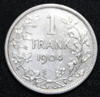 BELGIE LEOPOLD II  1 FRANK  1904    MOOIE  KWALITEIT   2 SCANS - 1865-1909: Leopold II