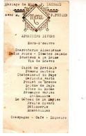 Menu De Mariage De Mlle P. Lainaud Avec M. P. Pezier - - Menus