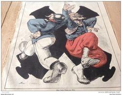 1870 Journal L'ÉCLIPSE N° 130 - ACTUALITÉ Par ANDRÉ GILL - GUERRE AU CAMP DE CHALONS Par PÉPIN - Journaux - Quotidiens