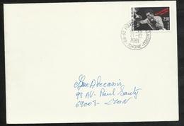 Lettre Circulée De Saint Pierre De Chandieu 21/10/1991 Le N°2729  Marcel Cerdan  Seul   TB - Pugilato