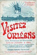 Ancien Prospectus - Visitez Orléans Cité De Jeanne D'arc Avec Carte - - Dépliants Turistici