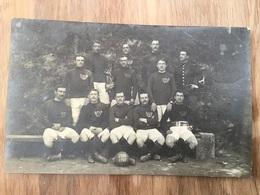 Carte Photo De L'equipe De Football Du 9° Bataillon De Chasseurs Longwy 1909-1910 - 1914-18