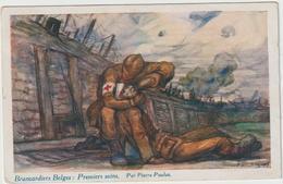ARMÉE BELGE - Brancardiers Belges, Premiers Soins -   Illust: Pierre  Paulus - Guerre 1914-18