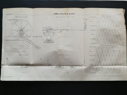 ANNALES DES PONTS Et CHAUSSEES (Dep 75) - Plan Du Tramway Funiculaire De Belleville - Imp L.Courtier 1893 (CLE63) - Máquinas