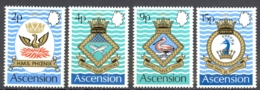 Ascension Sc# 152-155 MNH 1971 Naval Coats Of Arms - Ascension