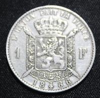 BELGIE LEOPOLD II  1 FRANC  1886    SUPER KWALITEIT   2 SCANS - 1865-1909: Leopold II