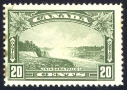Canada Sc# 225 MH (stain Along Left) 1935 20c Charlottetown - Unused Stamps