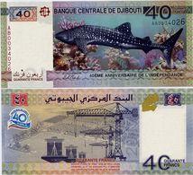 DJIBOUTI       40 Francs       Comm.       P-New       2017       UNC - Dschibuti