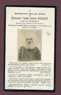 VOUECOURT  (52) : L'ABBE Henri RENAUT  (avec Photo)  1913 - Devotion Images