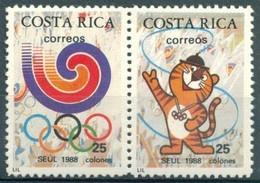 Costa Rica - 1988 - Yt 504/505 - J.O. De Séoul - ** - Costa Rica