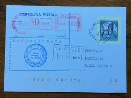 CARTOLINA POSTALE CASTELLI L.200 RACCOMANDATA ASSOLTA CON TARGHETTA ROSSA L.750 - Interi Postali