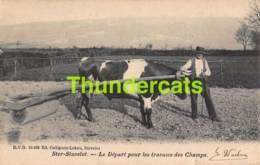 CPA  STAVELOT STER STAVELOT LE DEPART POUR LES TRAVAUX DES CHAMPS - Stavelot