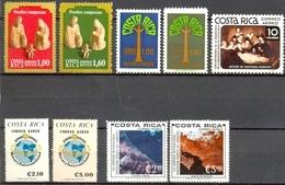 Costa Rica - 1979/1980 - Lot PA -  Yt 755 -> 763 - Tous ** Sauf PA 759 Obl. - Costa Rica