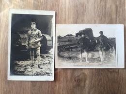 2 Cartes Photos Char Ft17 Et Tankistes Du 509°Rcc Maubeuge équipes Poignard Vengeur - 1914-18