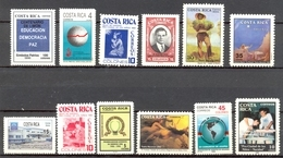 Costa Rica - 1990 - > 1993 - Lots Timbres Et Poste Aérienne Tous * TC -  Yt 533/545/546/552/PA899/PA904/PA903/572/574 - Costa Rica