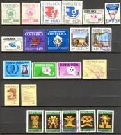 Costa Rica - 1974 - > 1987 - Lot Timbres Et Poste Aérienne - ** - * TC Et Oblitérés - Nºs Dans Description - Costa Rica