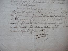 LAS Autographe Signée Janvier 1818 Lainé Joseph Henri Homme D'état Restauration à Propos Des Achats De Grains 4 P - Autographes