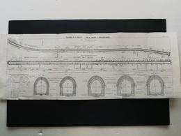 ANNALES DES PONTS Et CHAUSSEES (Dep 73) - Plan Du Souterrain De La Saucette - 1910 (CLE65) - Planches & Plans Techniques
