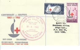 SUD AFRICA  1963 - CROCE ROSSA - SERIE COMPLETA SU FDC - Cartas