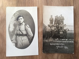 2 Cartes Photos Char Ft17 Et Tankistes Du 504°Rcc Valence 1934 - 1914-18