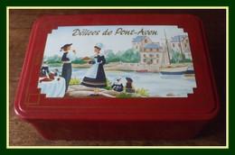 """Boîte Métal """" Gâteaux """" Délices De Pont - Aven TBE  19;5 X 13 H 7 Cm - Boîtes"""